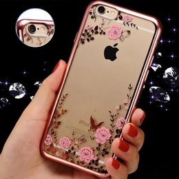New Secret Garden Flowers TPU Case for iPhone SE 5s 6 6s 6p 6sp Plus Ultra Thin Clear Coque Rubber Plating Soft Back Cover