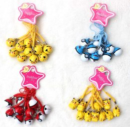 Wholesale Cute Anime PIkachu Poke Ball Pendant Cell Phone Charm Straps with Bell Cartoon For Gift