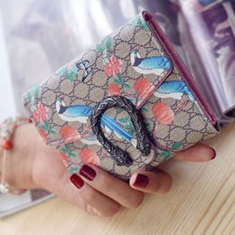 Wholesale Snake D modeling fashion big purse leather wallet multi card holder wallet lady purse girl