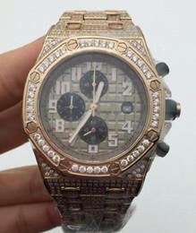 Les brunes en Ligne-2016 bandswatch8u suggèrent usine Prix quartz homme brun or diall Bracelet en acier inoxydable Chronographe Montres diamants pleine bracelets