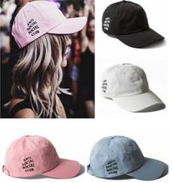 Wholesale Skull Designer Anti Social Social Club Baseball Cap Adjustable Strapback For Adults Mens amp Womens Cotton Hat Pink Black Blue Solid Color