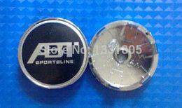 Wholesale 4pcs MM VW ABT SPORTSLINE Wheel Center Hub Caps Covers Emblem For VW emblem