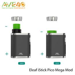 Wholesale Original Eleaf iStick Pico Mega W TC Mod fit Melo3 Atomizer ml Capacity Melo New EC NC ohm Head