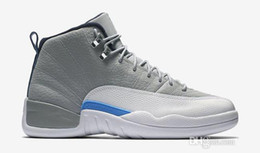 2016 new Cheap High quality new air Retro 12 mens Basketball Shoes Flu game French Blue Game gamma blue Playoff sneaker shoes sale
