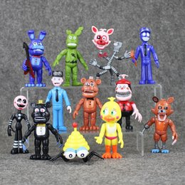12Pcs Set FNAF Bonnie Foxy Chica Freddy Fazbear PVC Action Figures Five Nights At Freddy's Toys Doll Brinqudoes Free shipping