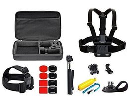 go-pro Sport Accessory Kit for Go-Pro Hero4 Session Hero 1 2 3 3+ 4 Silver Black SJ4000 5000 6000 7000 in Camping Diving