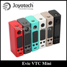 Evic vtc à vendre-Original Joyetech Evic VTC Mini Mod Temperature Control Box Mod 6 couleurs vs Mini Volt 40W COV