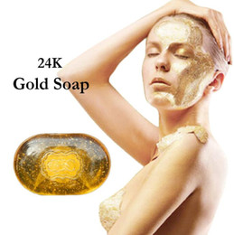 Wholesale Revitalizing Repairing Beauty K Gold Facial Cleaning Soap For Face Care Whitening Skin natural handmade bath soap g