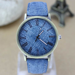 HOT Geneva Casual Men and Women's Unisex Watches Nylon Fabric Canvas Watches jean watches Gift Fashion