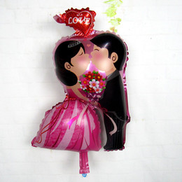Wholesale 50pcs Mini size Bride and Groom Kissing Love Wedding Balloons Valentine s Day Party Suppliers Wedding Globos Party