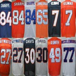 Wholesale Throwback Broncos Shannon Sharpe Gary Zimmerman John Elway Steve Atwater Terrell Davis Dennis Smith men jerseys