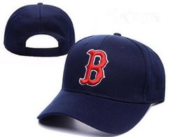 Wholesale New arrival classic Boston red sox baseball caps five panel brand hip hop cap swag style fitted hats snapback letter B bones