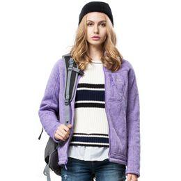 Wholesale-2016 womens cash fleece outwear jackets fashion winter warm fleece coat jacket for hiking camping climbing travel outdoorJW5158