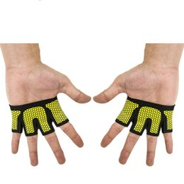 Man free fingers gym glove Hot sale corssfit exercise sport support mitten Yoga fitness training athletic mitt palm protect
