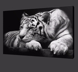 Modern tiger wall art HD Painting On Canvas single animal Prints Pictures Decor For Living Room free shipping No Frame