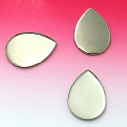 Blank Bezel Settings teardrop bezel Cabochon bases stainless steel Bezel tray Findings DIY Crafts 18x25mm