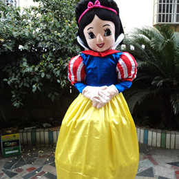 Wholesale Snow Women Xxl - New style snow white mascot costume Character Fancy Dress beautiful princess Cartoon costume party fancy dress