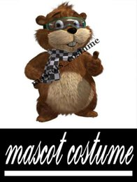 Wholesale Real Actual Photo Picture gopher bear Christmas Mascot Costume Adult Size Outfit Fancy Dress for Party