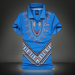Promotion gros national Gros-New Design africains Imprimer dashiki Shirts Fashion National Wind T-shit Dashiki For Men