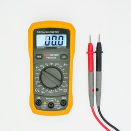 Wholesale 2000 Counts PEAKMETER PM8233B Manual Ranging Digital Multimeter AC DC Voltage Detector Portable Tester Meter with Backlight