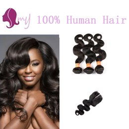 8A Grade Brazillian Body Wave With Closure 3 Bundles Brazilian Body Wave Lace Closure With Hair Bundles iwish Hair Products