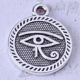 Flat eye round Pendant Fit Bracelets or Necklace DIY antique Silver bronze Jewelry 300pcs lot 105z