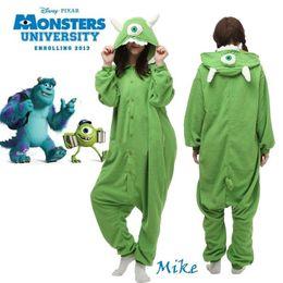 Wholesale Hot Anime Monster s Inc Mike Onesie Kigurumi Costume cosplay Fancy Dress Hoody Pajamas Sleepwear Size S M L XL