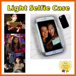 Wholesale Hot sale LED selfie light illuminated phone case PC plastic hard back cover with colors for iphone s plus
