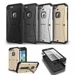 Wholesale iphone Plus Note Hybrid in Water Resistant Stand Cover Armored Tank Case for iPhone SE s s Plus Samsung Galaxy S7 S6 edge Note