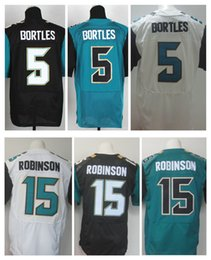 Wholesale 2016 New Jaguars Elite Jerseys Blake Bortles Allen Robinson Black White Green Jerseys