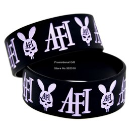 Wholesale Shipping Wide Band A Fire Inside Punk Style Band Silicone Bracelet for Music Fans