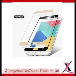 Wholesale Cell Phone Screen Protectors Tempered Glass H Hardness Washable Galvanized Silk Screen Full Screen For Samsung A9