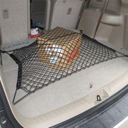 Wholesale 4 Hooks Car Trunk Elastic Cargo Net cars boot luggage mesk net rack storage bag net For Audi Q3 Q5 Q7 A3 A4L A5 A6L Benz Volkswagen ford hot