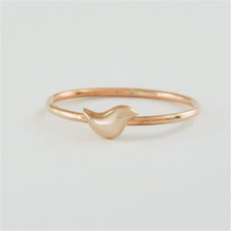 fashion bird mini women wholesale jewelry 18 k gold plated ring mixed color free shipping