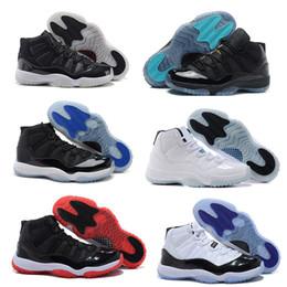Wholesale 2016 pas cher rétro air s XI homme Basketball Chaussures Femmes Gamma Légende bleu bleu Bred Space jam Concord GS Sneakers Athletics Bottes
