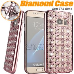 Wholesale For iPhone Jewerly Diamond Case For LG K10 Cases Fashion Bling Bling Crystal Electroplating Soft Cover Case for Moto G4 OPP Box