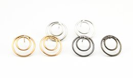 Lots 12 Pairs Metal WIre Circle Round Ear Stud Earring For Women Lady GIrl Gift Ear Jewelry