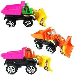 Wholesale Inertia Construction vehicles Bulldozer Car model Kids Building Machinery Toy A00137
