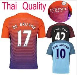 Wholesale DHL Mixed buy Thai quality jerseys Manchester City soccer Jerseys home away with PL badge DZEKO KUN AGUERO KOMPANY TOURE YAYA DE BRU