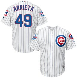 Wholesale Chicago Cubs Kyle Schwarber Kris Bryant Jason Heyward Jake Arrieta Anthony Rizzo with Years at Wrigley Field Patch Majestic MLB Jerseys