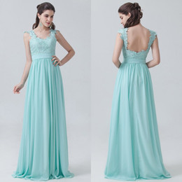 2016 Sage Country Bridesmaids Dresses Long A line Chiffon Spaghetti Straps Lace Prom Gowns Bridesmaid Dresses Cheap