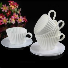4 pcs Soft Silicone Cake Cup Liners Baking Cup Muffin Kitchen Cupcake Tools Cookie Cutter Cases for Wedding Party Decoration