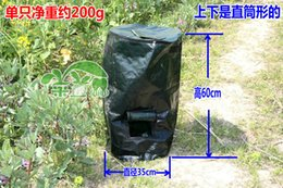 Wholesale 60L Fermentation waterproof bag planter bags homemade organic fertilizer bag manure compost kitchen waste bags melons leaves