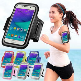 Wholesale-Sport Arm Band Belt Cover For SAMSUNG Galaxy Note 2 Note 3 SM-N910 Note 5 A7 2016 A7 2016 On 7 Waterproof Running Gym Phone Bag