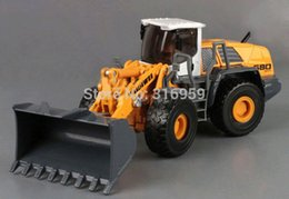 Wholesale Shovel truck model ABS Alloy diecast truck rubber wheels construction shovel truck model engineer machine toy vehicles