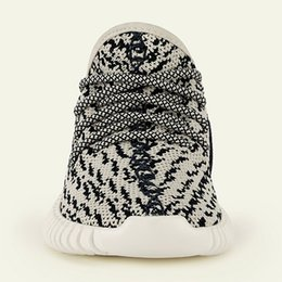 Wholesale Kids Shoes Boost Infant child toddlers boys girls size Boost Pirate Black and Turtle Dove kanye west shoes identical to adult
