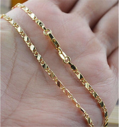 Men Women 18K Yellow Gold plated Chain Necklace Link Chain Charm Women Fashion Jewerly