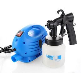 Wholesale Electrical Spray Gun HVLP paint zoom Spray System V V V V V Trigger Airbrush Air Brush TV Products Electric Gu