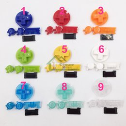 Wholesale Colorful Buttons Set Replacement for Gameboy Color Best Quality Plastic ON OFF Button AB Buttons for Game Console Pads