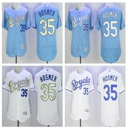 Wholesale 2016 new hot selling jersey Kansas City Baseball jersey Eric Hosmer Majestic White World Series Champions Gold Program jerseys